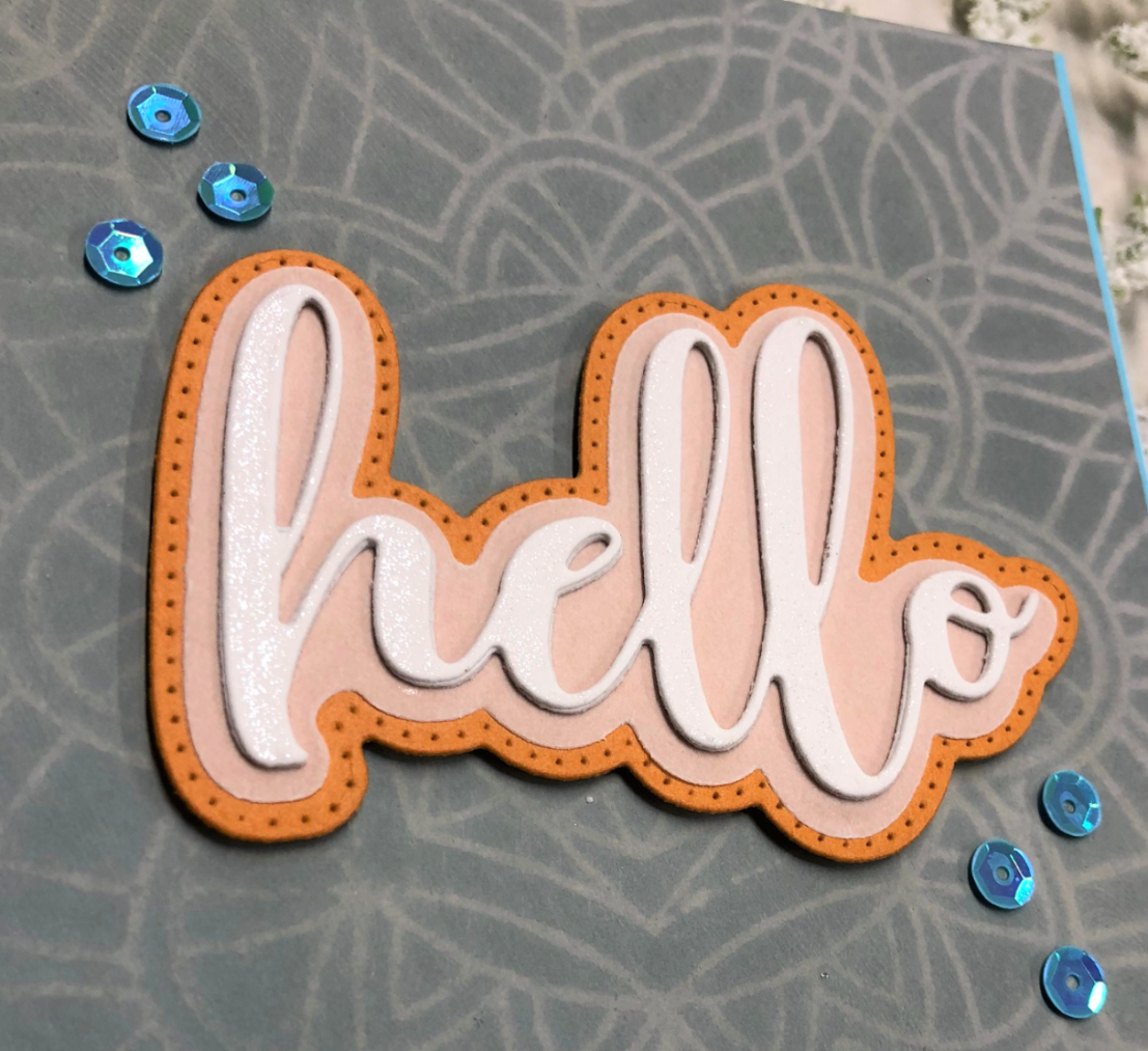 Shimmer Color Throw Down Hello Card