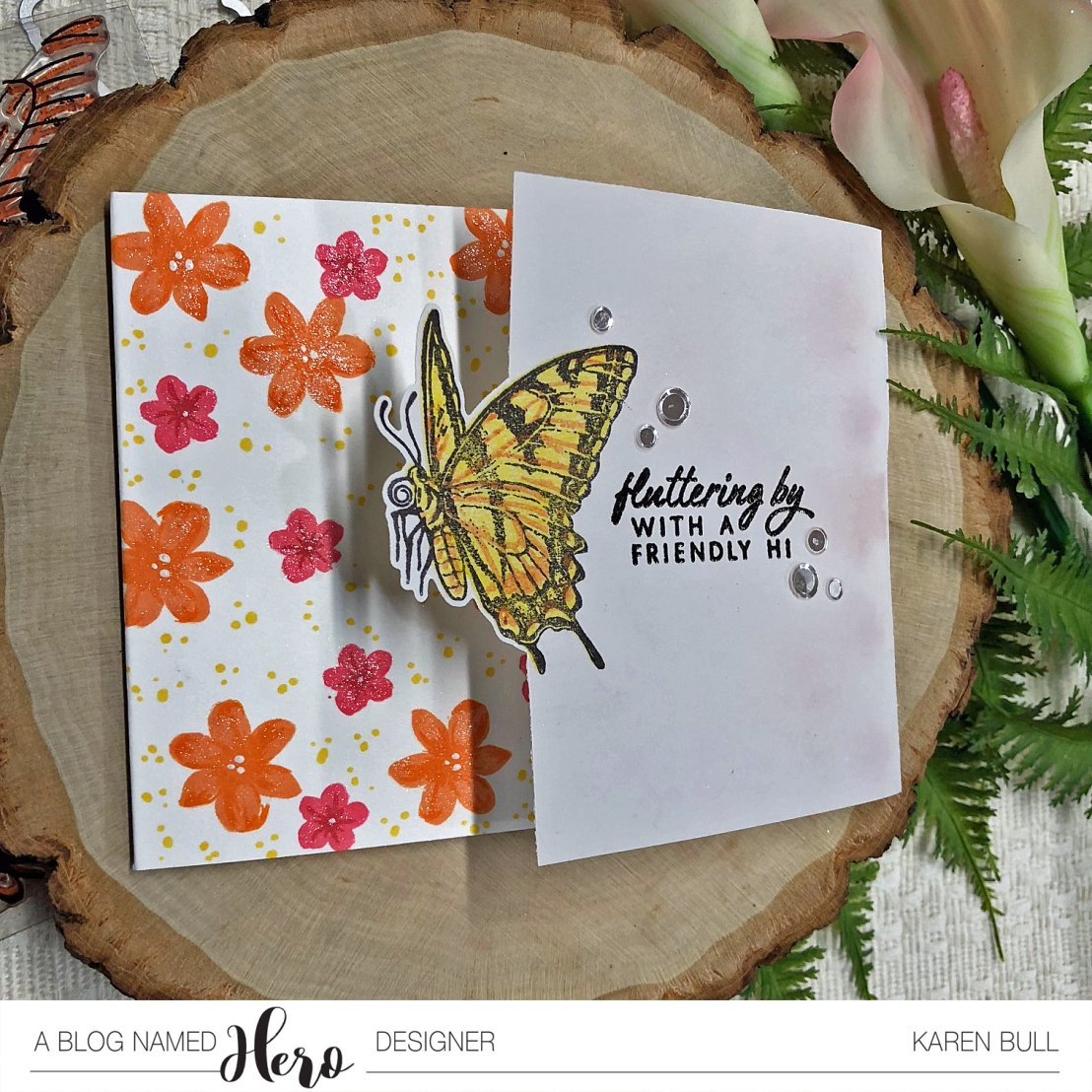 Left Butterfly Card