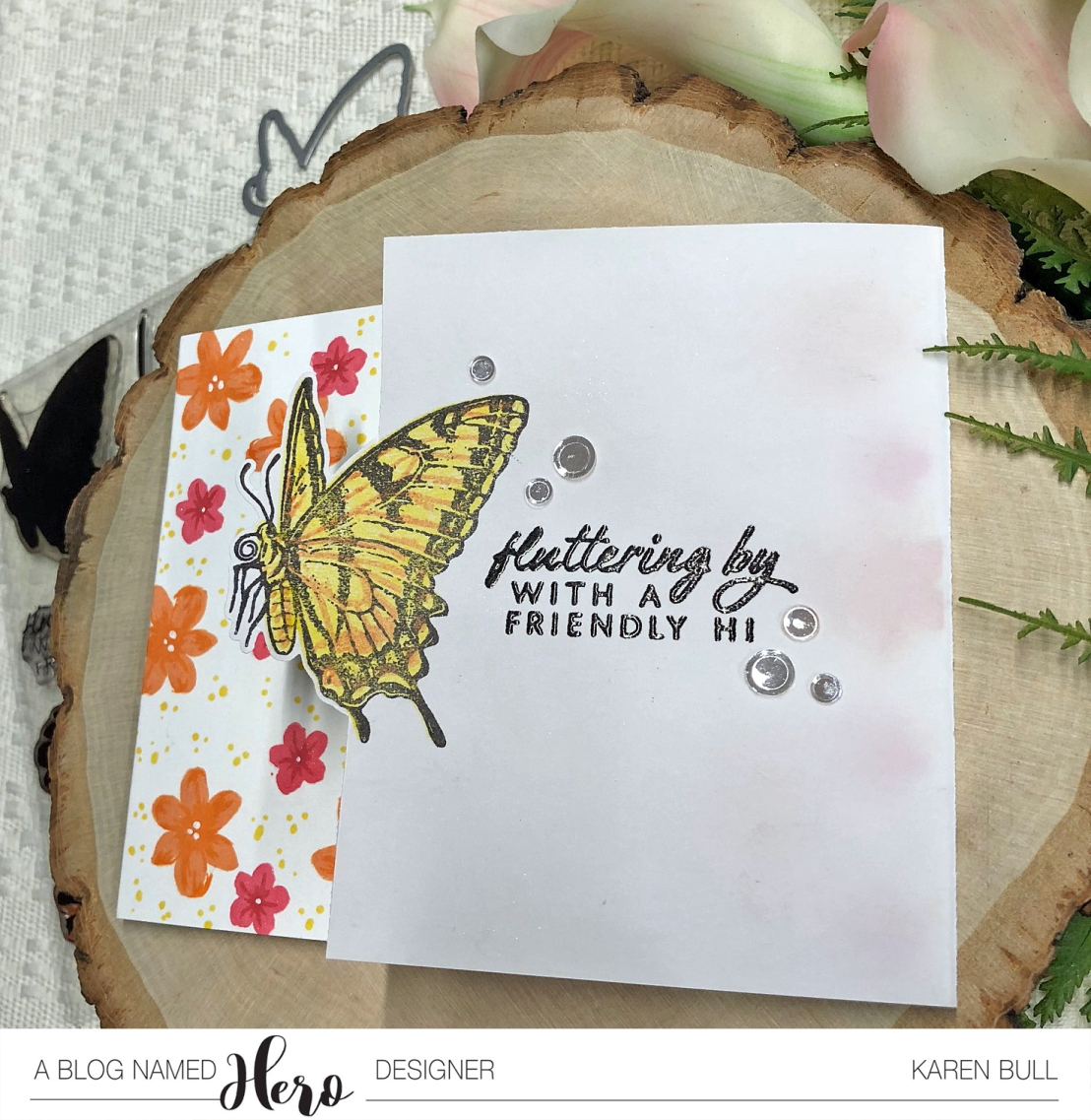 Right Butterfly Card